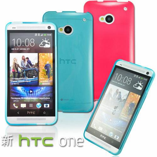 UNIPRO【N108】Metal Slim New HTC One M7 專用韓風軟式保護套 TPU 清水套 軟 果凍套 手機殼
