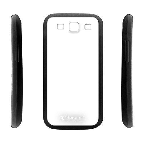 UNIPRO【1X05】Metal-Slim HTC one X S 三星S3 i9300 雙色混搭 軟TPU+硬PC透背 手機殼 套 送保護貼
