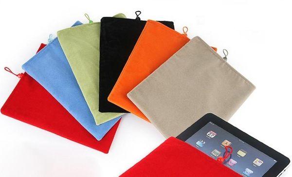 UNIPRO【A029】tab3 7.0 8.0 Nexus7 iPad mini Iconia B1 ME172V 8吋以下小平板 絨布袋 布袋 珠扣 保護套