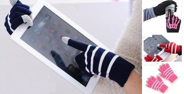 UNIPRO【A012】New iPad 2 3 4 5 Air mini N8000 P3100 ASUS Acer tab3 觸控手套 骷髏手指 保暖 滑手機