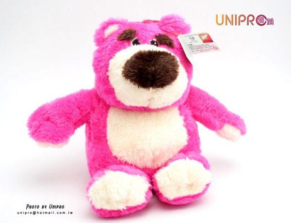 UNIPRO 熊抱哥 Lotso 坐姿 絨 玩偶 娃娃 禮物 桃紅熊 玩具總動員3 Toy Story 迪士尼正版授權