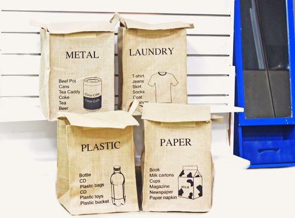 UNIPRO【L047】日雜風 四方復古棉麻分類收納桶 洗衣籃有蓋 paper metal laundry plastic 防潮