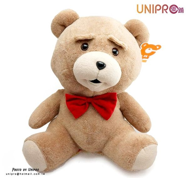 【UNIPRO】熊麻吉 蝴蝶結熊 中 坐姿 絨毛玩偶 娃娃 無辜熊 生日禮物