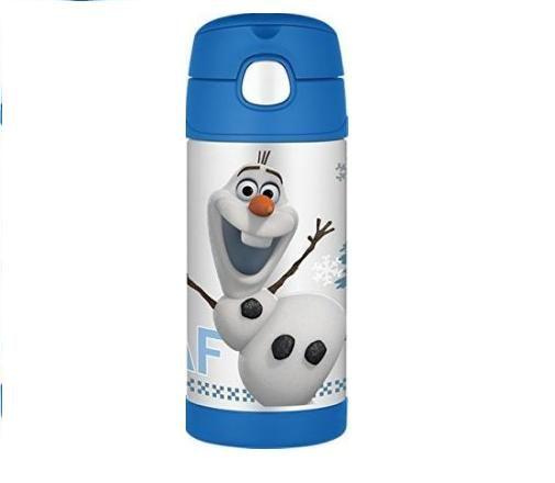 【美國膳魔師 Thermos】不鏽鋼兒童吸管水壺 (冰雪奇緣/雪寶)兒童學習水杯