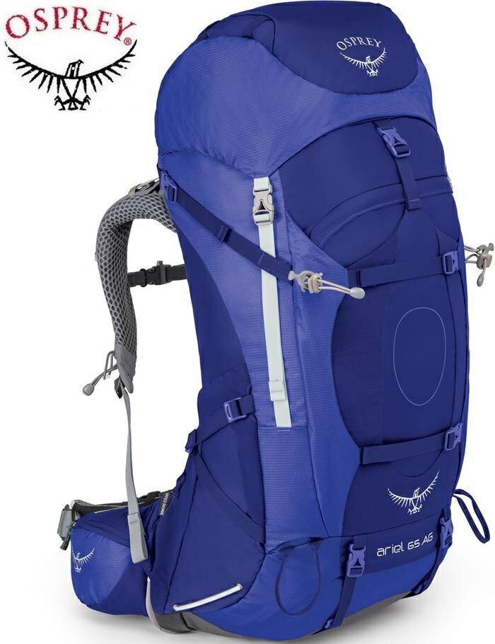 Osprey 後背包/登山背包/背包客/背包/健行 Ariel AG 65 精靈65升登山背包 女款 潮汐紫