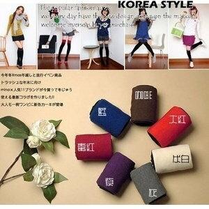 美麗大街【SW34】冬季最夯-日韓大流行~時尚雙色相拼長襪膝上襪