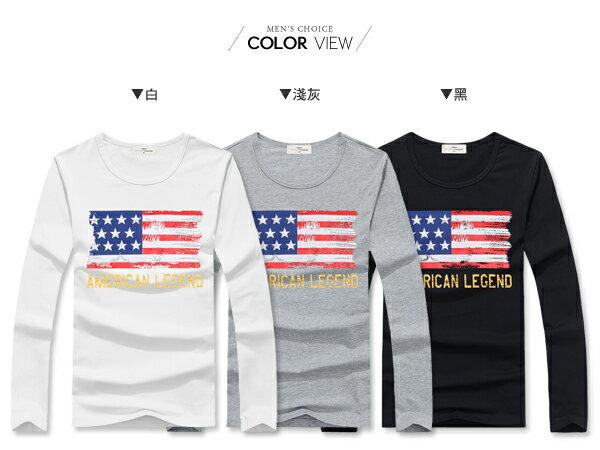 ☆BOY-2☆【NAL128】美國國旗斑駁長T 1