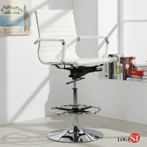 LOGIS安菲米皮革低背高吧椅梳妝椅辦公椅事務椅【WP10A0X】
