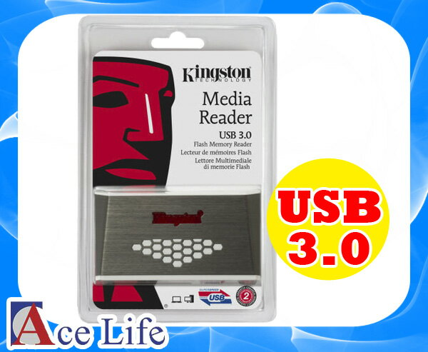 【九瑜科技】Kingston 金士頓 USB 3.0 高速 讀卡機 FCR-HS4 Reader 支援 手機 相機 SD CF MS Sony HTC Samsung
