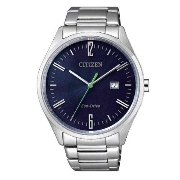CITIZEN星辰錶BM7350-86L+EW2450-84L現代簡約光動能腕錶藍面42+35mm