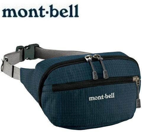Mont-Bell 休閒腰包/旅行腰包 Delta gusset pouch M 1123764 NV海軍藍