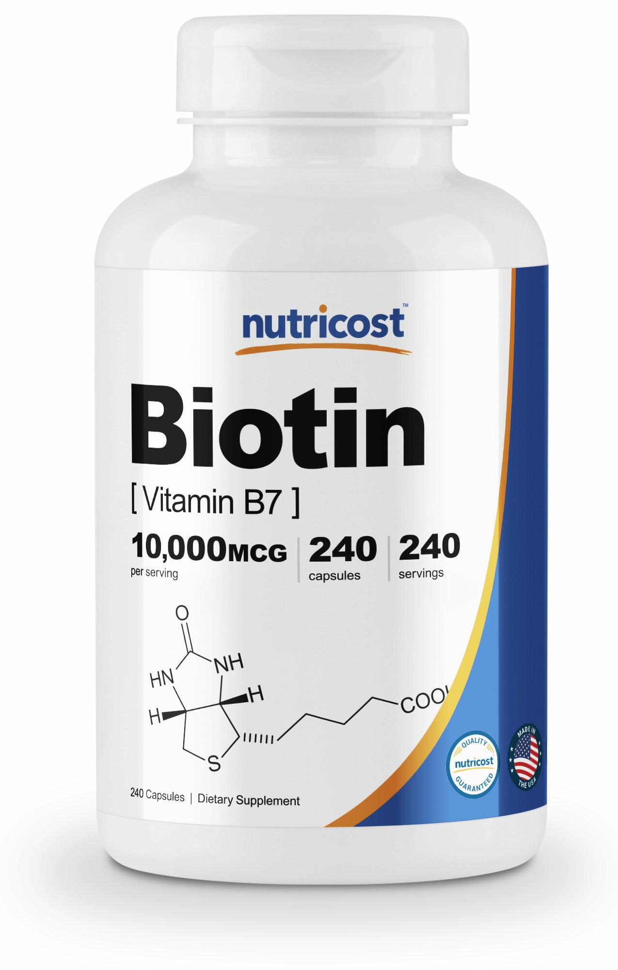 Esupplements Nutricost Biotin Vitamin B7 10000mcg 10mg 240 10000 Mcg 100 Tablets Natrol Capsules Gluten