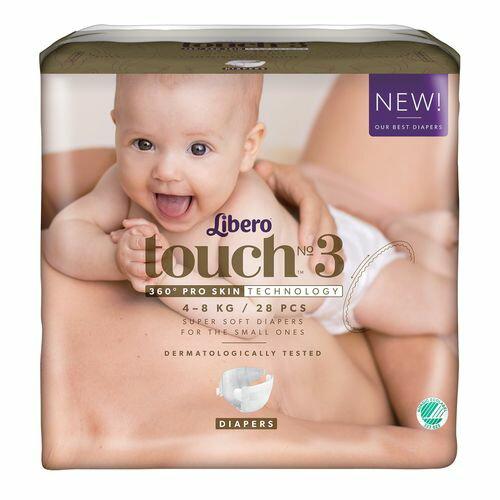 ★衛立兒生活館★麗貝樂 Libero touch 嬰兒紙尿褲3號-28片x6包(尿布)箱購