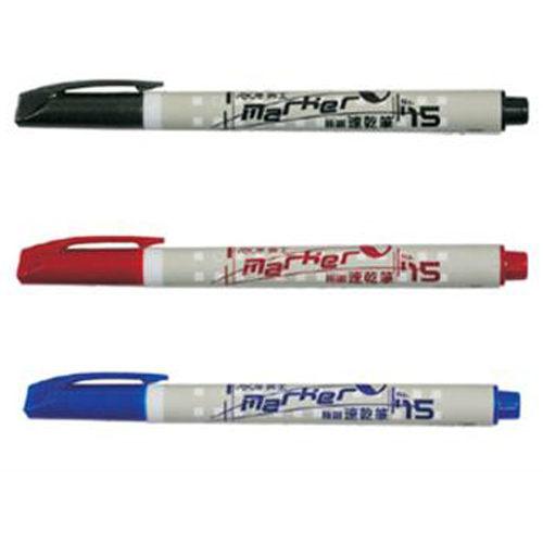 【英士 】 NO.15紅 0.4mm 極細簽名筆(油性)