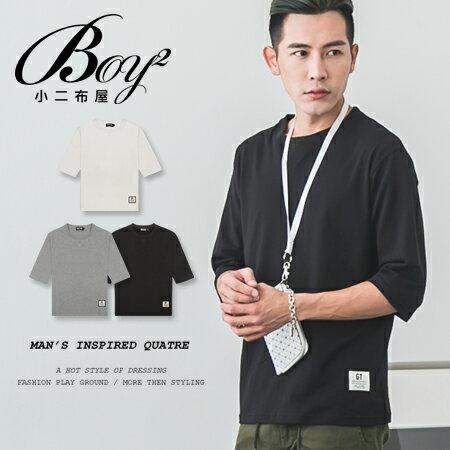 ☆BOY-2☆【ND6819】韓版休閒素面男裝七分袖短袖T恤 0