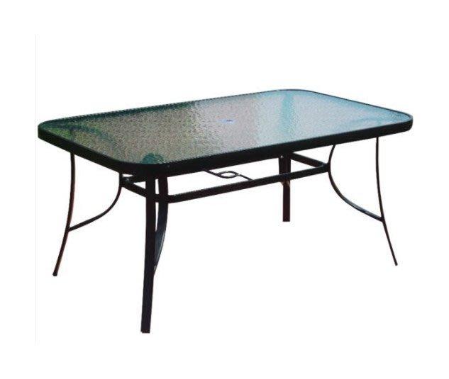 ╭☆雪之屋☆╯玻璃大長方桌(DIY自組)/戶外休閒桌椅2-917