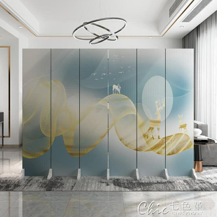 [店家推薦]屏風 新北歐輕奢屏風隔斷公司裝飾背景墻客廳臥室遮擋家用折疊行動折屏