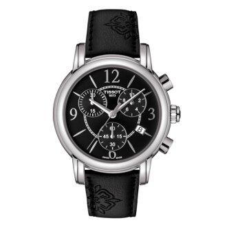TISSOT天梭 T0502171705700 DRESSPORT時尚石英計時腕錶/黑面35mm