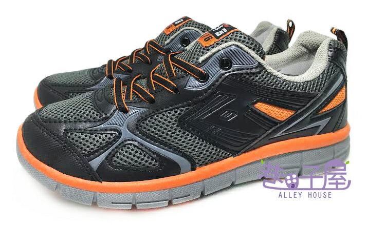 【巷子屋】FrigateBird軍艦鳥 男款多功能運動休閒慢跑鞋 [9066] 黑桔 MIT台灣製造 超值價$398