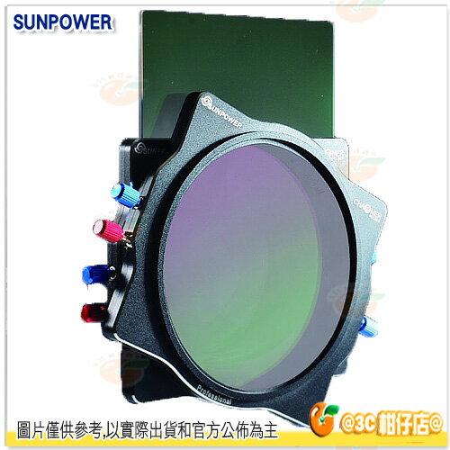 送旋轉支架 SUNPOWER Reverse GND 0.9 減3格 100x150mm 反向漸層減光鏡 湧蓮公司貨 方型鏡片 0