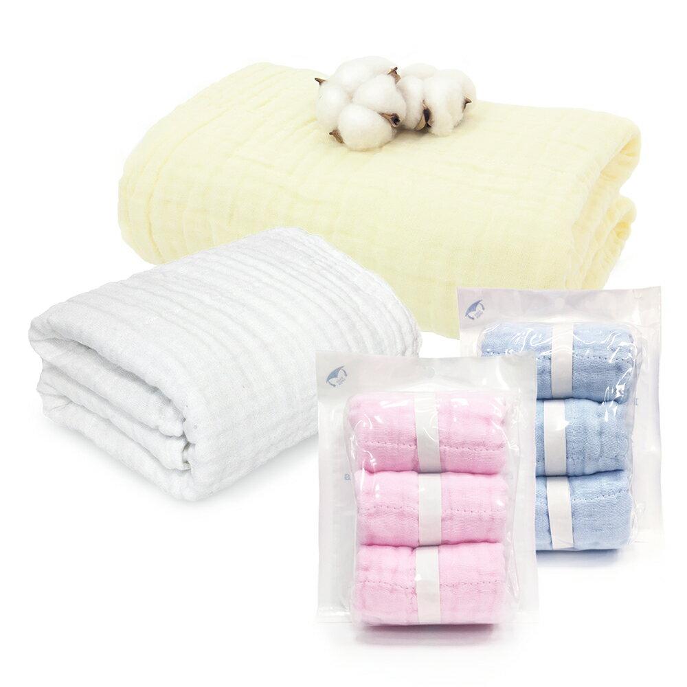L'Ange 棉之境 3層/6層/9層純棉紗布浴巾/蓋毯 3層包巾/9層多功能紗布小方巾