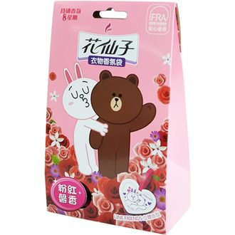 花仙子 卡通衣物香氛袋 LINE FRIENDS 粉紅馨香 10gX3入袋