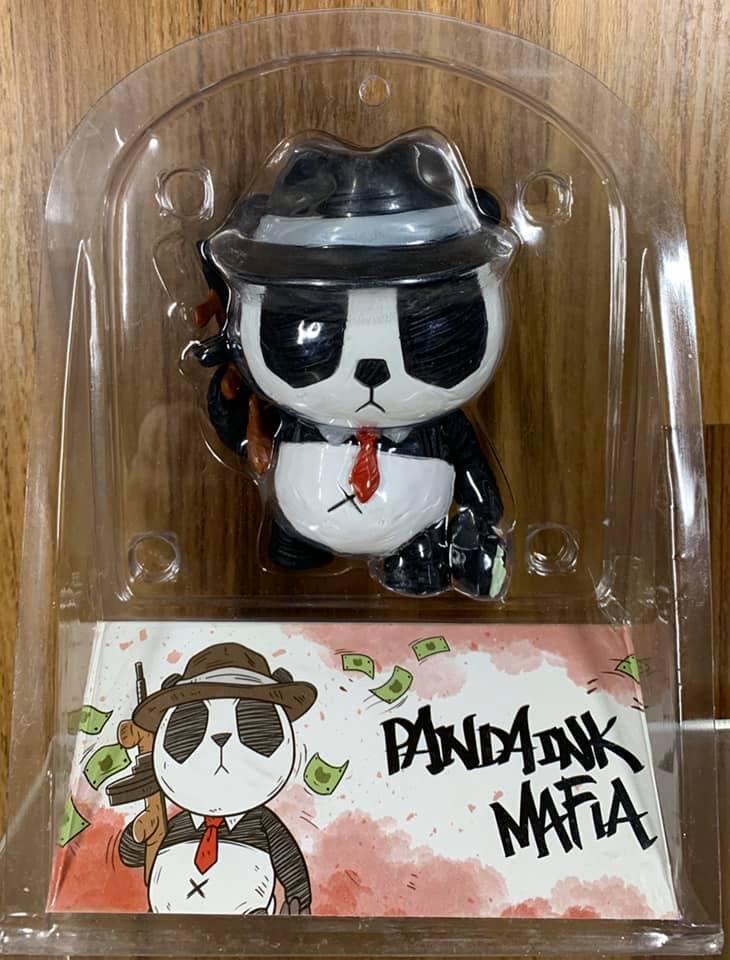 ☆勳寶玩具舖【現貨】PANDA INK [MAFIA] 熊貓:黑手黨 4吋 Mighty Jaxx X CACOOCA 設計師玩具