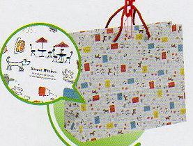 紙袋3K~25入~法式風情白色~棉把手 pbag~045