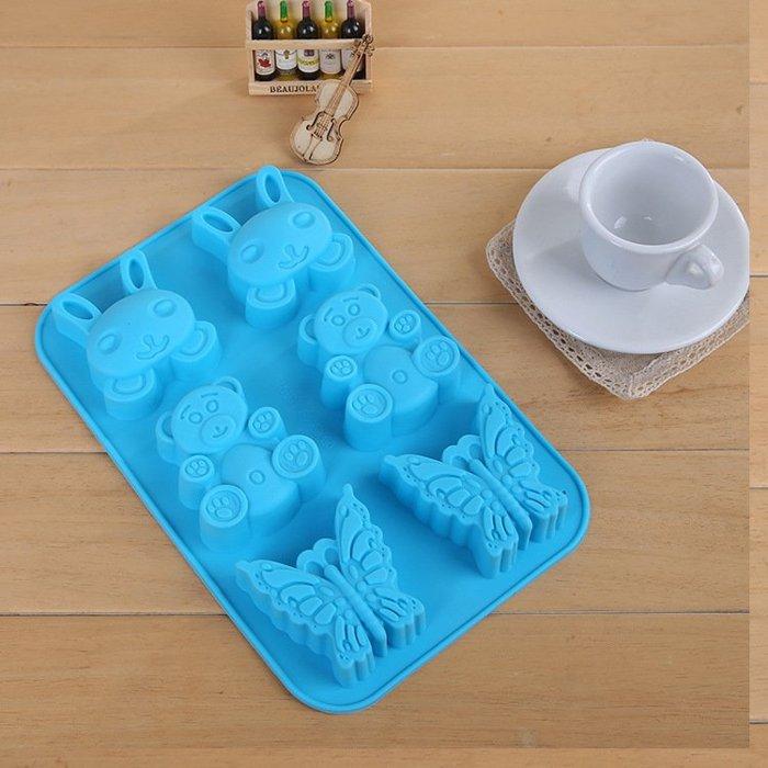 =優生活=夏季冰模小兔小熊蝴蝶動物冰格巧克力 布丁 果凍模具 蛋糕模 超大格