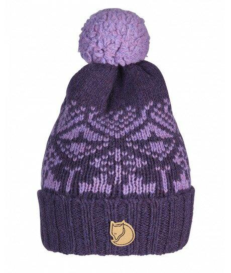 【鄉野情戶外用品店】 Fjallraven 小狐狸 |瑞典|SnowBall保暖帽/羊毛帽/毛帽 針織帽-暗紫/77378