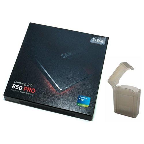 "Samsung SSD 850 Pro 512GB 512G SATA III 2.5"" 3D V-NAND Internal Solid State Drive MZ-7KE512BW + SSD Case 0"