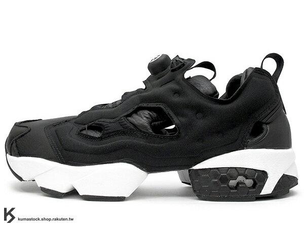 [女生尺寸] 2016 限量登場 裏原宿最強龐克骷髏 BOUNTY HUNTER x 美國紐澤西鞋舖 PACKER SHOES x 日本頂尖鞋舖 atmos x REEBOK INSTA PUMP FURY 四方聯名 黑白 黑魂 皮革 SKULL KUN 玩具公仔 BxH (AR1991) !