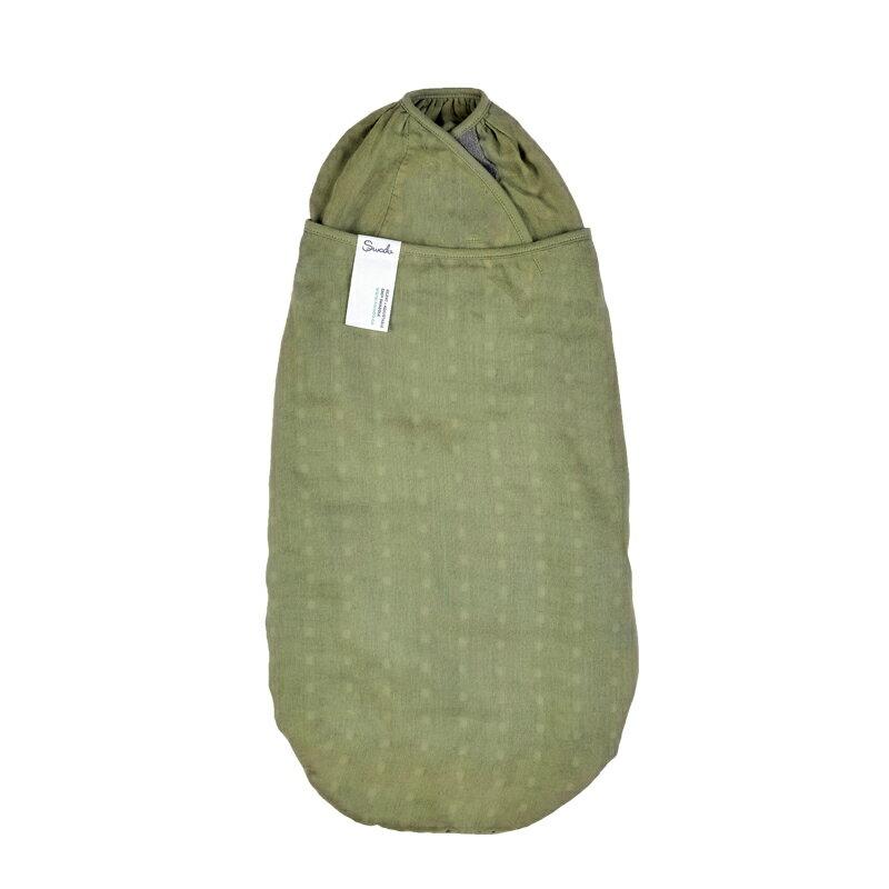 美國Swado - 全階段靜音好眠包巾(紗布竹纖棉款 - 橄欖綠)