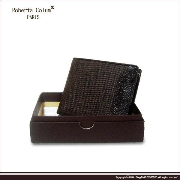 ~Roberta Colum~諾貝達 雅痞幾何系列 可拆上下翻短夾RM~28701