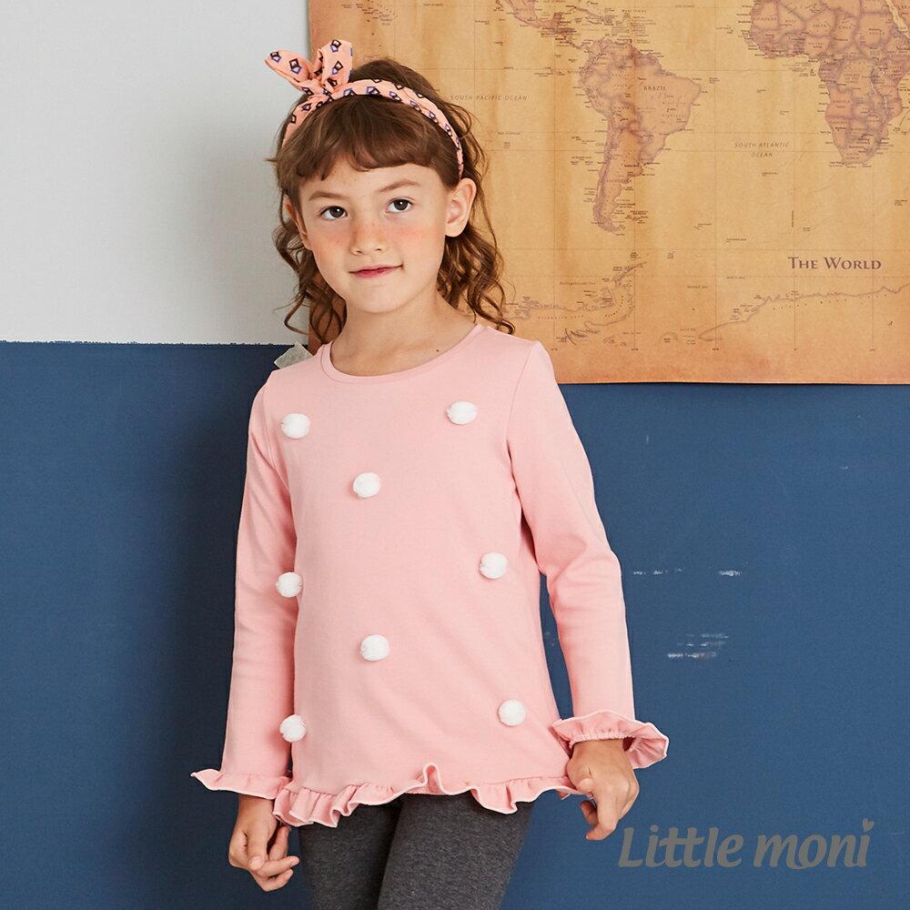 Little moni 立體花朵上衣-粉紅(好窩生活節) 1