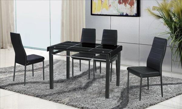【石川家居】JF-456-1馬可3.6尺黑色長方桌(不含餐椅和其他商品)台北到高雄搭配車趟免運