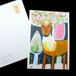 *樂意小坊*《聖誕特色明信片--- 希望》 Chloe用壓克力顏料繪製而成,再印成明信片,讓聖誕卡有了不同的溫度與面貌。