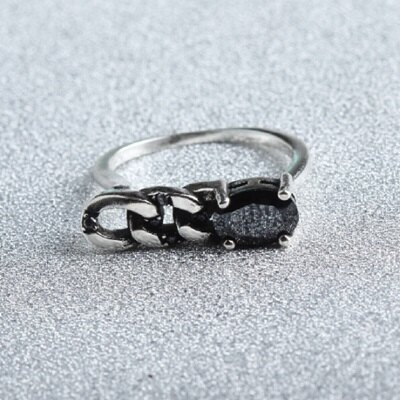 ~925純銀戒指瑪瑙開口戒~復古麻花編織精美情人節生日 女飾品73gp30~ ~~米蘭 ~