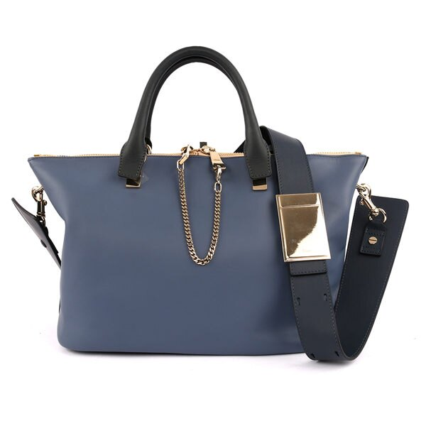 【CHLOE】Baylee Small two-tone tote 小牛皮 (街頭藍) 3S0169 882 B5U