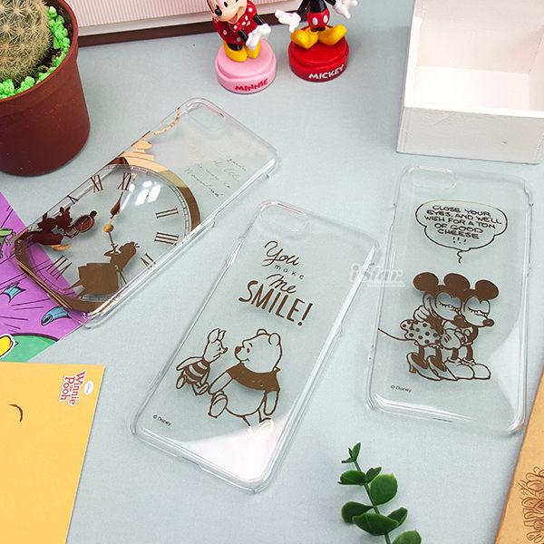 【日本 PGA-iJacket】正版 迪士尼 iPhone 7/6/6S 4.7吋 PC金箔透明系列 硬殼 手機殼