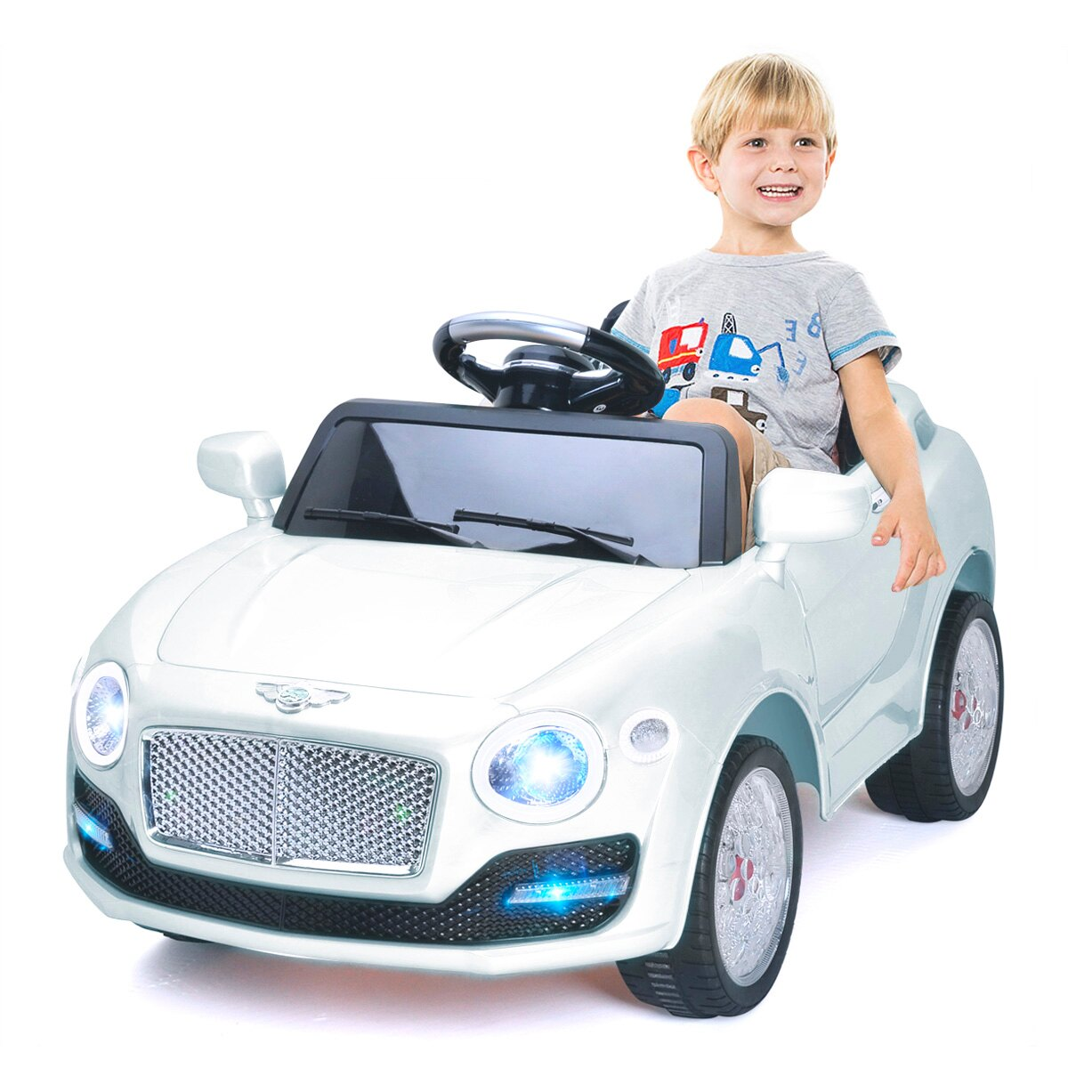Costway 6V Kids Ride On Car Electric Battery Power RC Remote Control \u0026 Doors MP3 White  sc 1 st  Rakuten.com & Costway   Rakuten: Costway 6V Kids Ride On Car Electric Battery ...