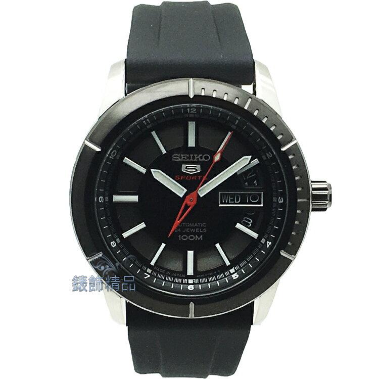 【錶飾精品】精工手錶 SEIKO5號日本製 手自動機械錶 運動款 夜光 鍍黑框膠帶男錶 SRP341J2 全新原廠正品