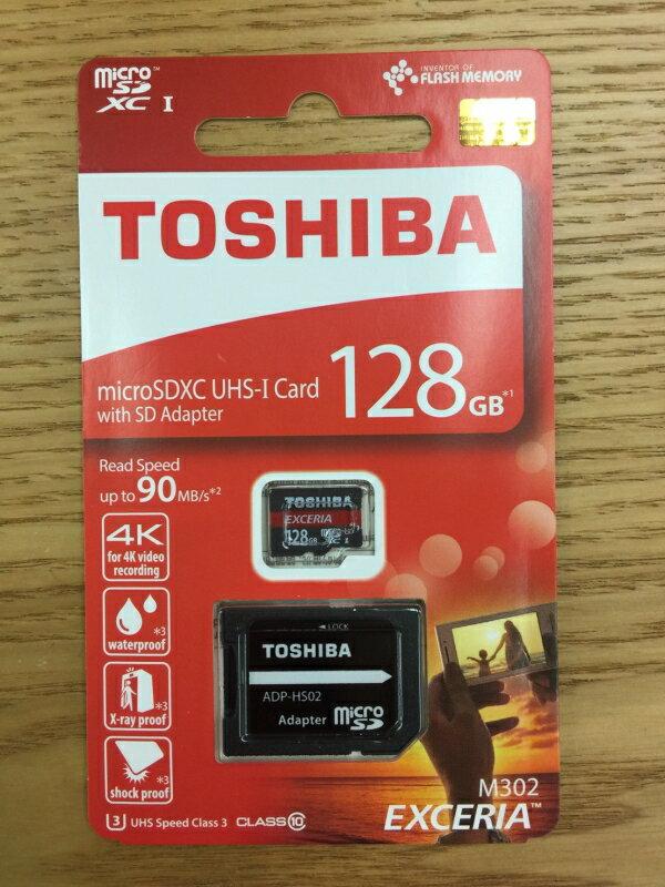 ☆宏華資訊廣場☆TOSHIBA 記憶卡 MicroSD 16G、32G、64G、128G M302