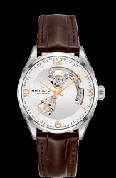 Hamilton 漢米爾頓 JazzMaster OPEN HEART 80小時自動腕錶 H32705551 銀 咖啡 玫瑰金 42mm