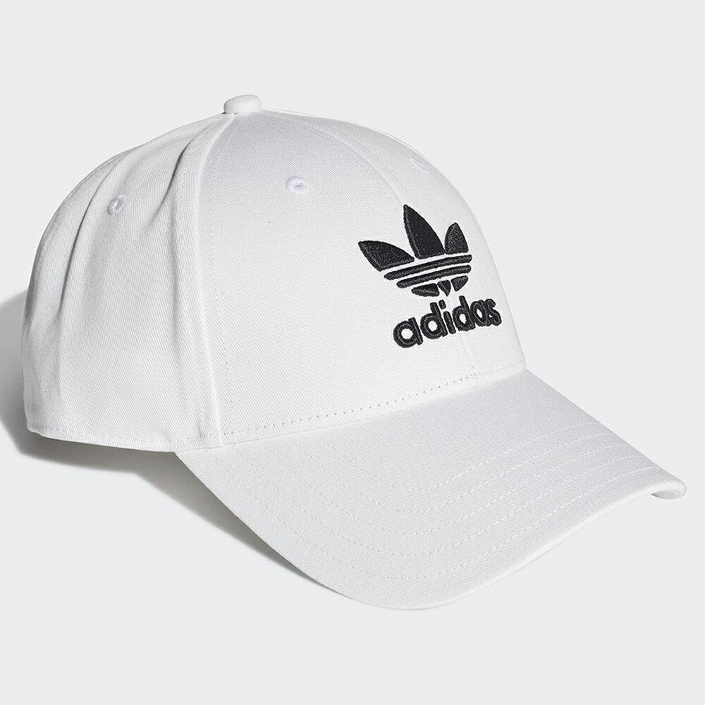 【全館滿額88折】【現貨】Adidas Trefoil Baseball Cap 帽子 老帽 白【運動世界】FJ2544