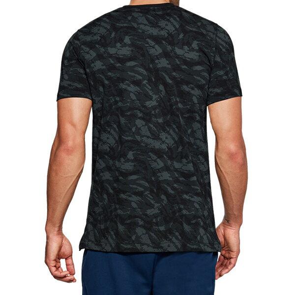 《UA出清69折》Shoestw【1305671-001】UNDER ARMOUR UA服飾 Sportstyle 短袖 T恤 能量棉 水彩刷紋 黑灰 男生 1