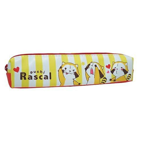 黃色款~  ~ 小浣熊 拉斯卡爾 皮質 筆袋 鉛筆盒 小筆袋 防潑水 puchi Rasc