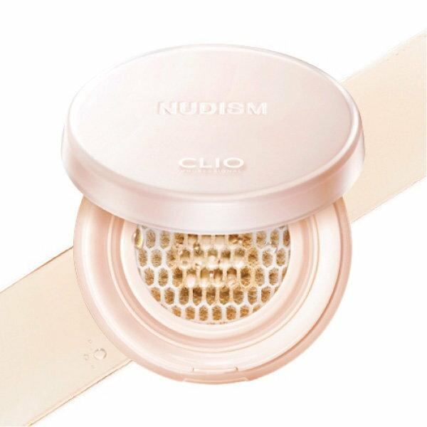 韓國CLIO裸透主義蜂窩狀不脫妝氣墊粉餅12g0.42OZ*2ea【櫻桃飾品】【26672】
