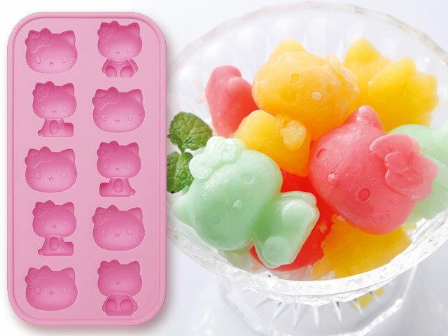 【真愛日本】13042500046   矽膠造型模具-坐姿大臉  三麗鷗 Hello Kitty 凱蒂貓 製冰盒 模型 模組