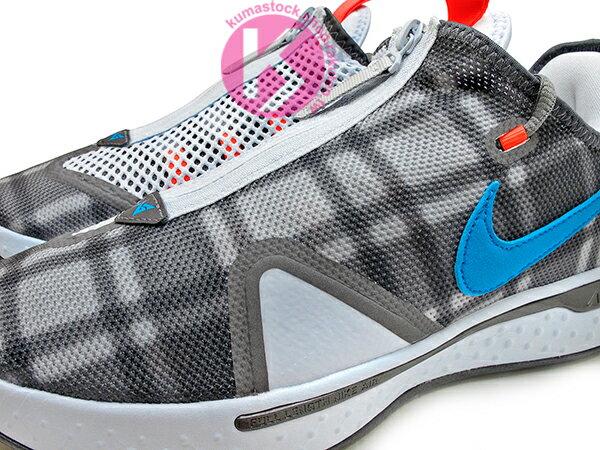 2020 強力登場 全明星球員 Paul George 個人最新簽名鞋款 NIKE PG 4 EP 灰黑藍 格紋 拉鍊 襪套式內靴包覆 全腳掌 AIR 氣墊 籃球鞋 PG4 (CD5082-002) 0220 2